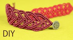 Macramé bracelet tutorial for a lovely and elegant heart-shaped chain. It's a romantic gift and a nice accessory what you can wear every day. Watch more macr...
