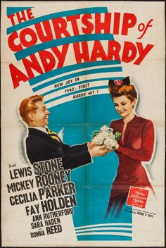 """Movie Posters:Romance, The Courtship of Andy Hardy (MGM, 1942). One Sheet (27"""" X 40"""")Style C. Romance.. ... Image #1"""