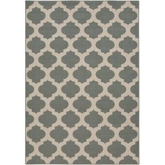Found it at Wayfair - Modern Trellis Pewter Outdoor Area Rug