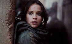 What really gets me is that this girl died just few hours later and I think that Jyn also realized it when they escaped Jedha