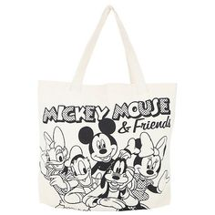 Disney Mickey Friends Canvas Tote Bag Hot Topic (540 PHP) ❤ liked on Polyvore featuring bags, handbags, tote bags, canvas tote bag, canvas tote purse, handbags totes, white tote and canvas purse