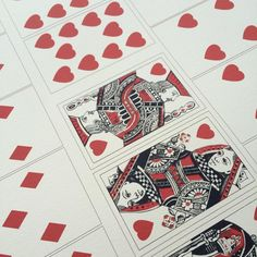 The Victoria Art Department is making playing cards for the Queen and her Prince.