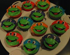 ninja turtles cupcakes | Teenage Mutant Ninja Turtles. Vanilla cake with vanilla ... | Cupcakes