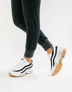 Nike White With Black Accent Air Max 95