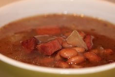 Ham hock and beans -- Recipe: http://cookinitmyway.blogspot.com/2010/11/ham-hock-and-beans.html