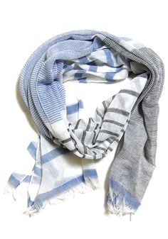 Summer Beach House Scarf: Blue - $14.99 : Spotted Moth, Chic and sweet clothing and accessories for women