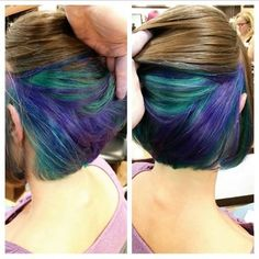 peekaboo color short hair - Google Search