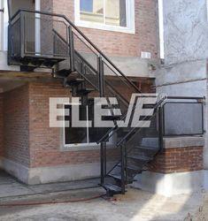 Modelos de escaleras externas escaleras en el exterior de - Escaleras de cemento para interiores ...