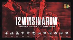 #Blackhawks beat the Predators for their 12th consecutive win, establishing a new franchise record!