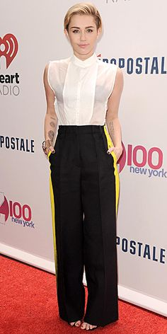 Look of the Day - December 16, 2013 - Miley Cyrus in Maison Martin Margiela #InStyle