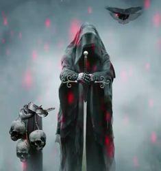 Grim Reaper Art, Dark Images, Wings, Darth Vader, Santa, Fictional Characters, Dark Pictures, Feathers