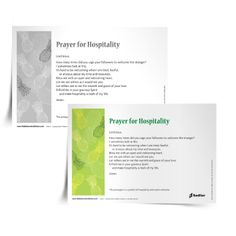 Download a Prayer for Hospitality, and use it in your parish or home.  #Catholic #Prayer #Virtues #Catechist