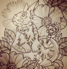 By Jasmin Austin-- white rabbit