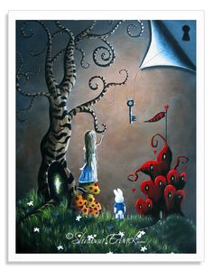Alice In Wonderland - The original painting was created for a special event that I was a part of for the Oscars and is a top seller with thousands of prints being enjoyed in homes and offices worldwide! ILOVEFAIRYTALES saves you 15% at checkout for your art print purchase.