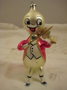 Vintage Jimmy Cricket Italian Hand Blown Christmas Ornament
