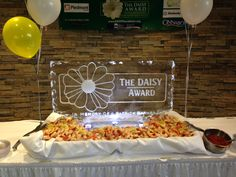 DAISY ice sculpture at Eastside Medical! DAISY launch!
