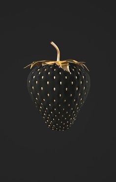 Wallpaper Backgrounds Aesthetic - strawberries gold and black