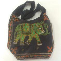 Bongojazz Designer Handbag Indian Elephant  Ethnic Tribal Boho Hippy Unusual
