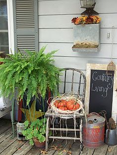 The porch is going to look like this real soon! :) love it!