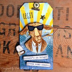 Paxton Valley Folk Art: Future's So Bright Hipster Tag
