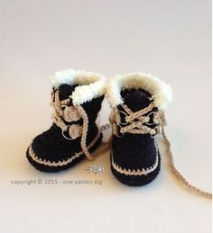 Ravelry: Baby Sorel Pacs Style Winter Boots pattern by Paisley D
