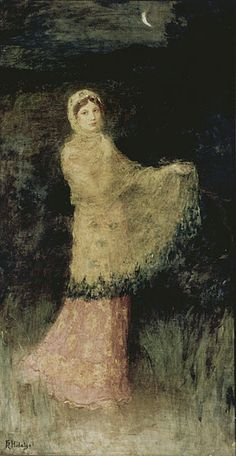""""""" A Lady in the Moonlight (undated), Félix Resurrección Hidalgo Wonderful impressionistic artwork by one of the Philippines' national treasured artists, and highlighted inspiration for future national reformists. If you are not familiar with Hidalgo,. Filipino Art, Jose Rizal, Philippine Art, Art For Art Sake, American Pride, New Artists, Figure Painting, Love Art, Impressionist"""