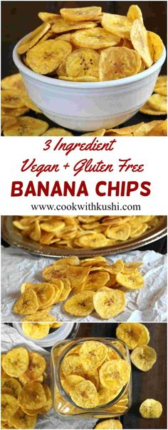 Banana Chips is a salty, cripsy and irresistible snack that can be prepared using just 3 ingredients in less than 20 minutes and gets over in no time. This recipe is vegan and gluten free.  #vegan #vegetarian #glutenfree #chips #banana #recipe #snack #appetizer #dinner #Lunch #party #buzzfeedfood #feedfeed #todayfood