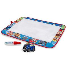 It's Chase to the ruff, ruff rescue with the Paw Patrol Aquadoodle Mat! Now your child can play hide and seek as they find and reveal Chase in 4 hidden locations! Just add water to the Aquadoodle pen