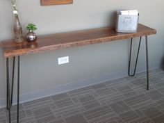 HAIRPIN LEG Console Table - Reclaimed Wood - is it becoming obvious what I'm about to get my hands on yet?