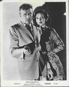 """1957 Brian Keith Beverly Garland """"Chicago Confidential"""" Actors Press Photo"""