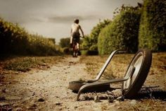 This image is so powerful. You have the power! Farewell training wheels ....thanks for your support but I'm off now tata!