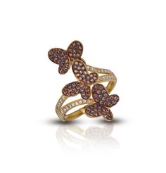 levian chocolate diamond bridal sets | Home / Le Vian 14K Yellow Gold Triple Butterfly Chocolate Diamond Ring