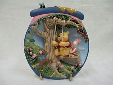 Walt Disney Winnie the Pooh's Hunnypot Adventures Sharing A Ride 3D Plate Piglet