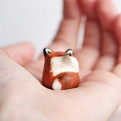 Little clay ceramic fox