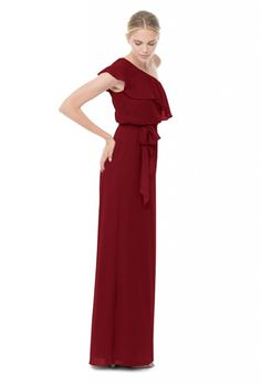 2724ce9207 23 Burgundy Bridesmaid Dresses Perfect for a Fall Wedding