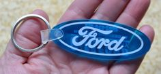 Vintage FORD Keychain Key Ring C&M Ford Mercury Hallock Minnesota Made in USA