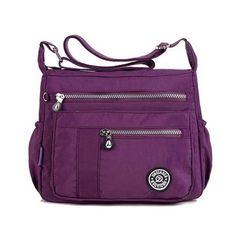 bca992685ccd Women Multilayer Zipper Pockets Bags Ladies Casual Waterproof Shoulder Bags  Outdoor Travel Crossbody Bags