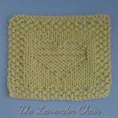 Heart Hot Pad knitting pattern by The Lavender Chair