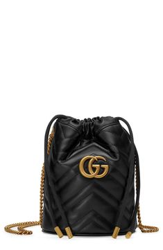 7865116ddc214 Gucci Mini Gg Marmont 2.0 Quilted Leather Bucket Bag - Black