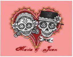 Love these Bride and Groom sugar skulls