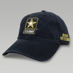 Show your Army Veteran they rock with this Army Star Veteran Hat in black.   nbsp d6d5672ddd4