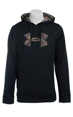Under Armour Men's Black with Camo UA Storm Armour Fleece Caliber Hoodie