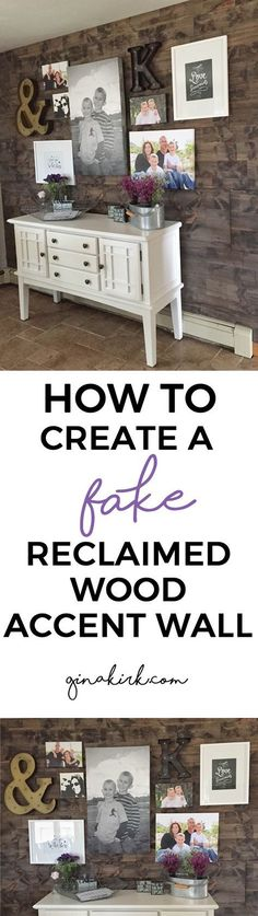 How to fake a reclaimed wood accent wall (in one day!) - Kitchen faux pallet wall - DIY home decor - fixer upper inspired!