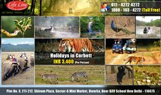 Enjoy the stunning and picturesque locations of Corbett at best prices only on Life Line Tourism Pvt Ltd. INR 3400 Per Person