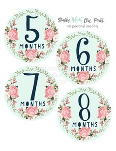 Gift for Baby. Gift for Her. last minute gift Baby Monthly Milestones, Baby Milestone Cards, Monthly Baby, Baby Shower Gifts, Baby Gifts, Baby Month Stickers, Label Paper, Babies First Year, Last Minute Gifts