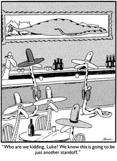 """The Far Side"" by Gary Larson. Funny Nurse Quotes, Nurse Humor, Funny Memes, Hilarious, Far Side Cartoons, Far Side Comics, Cowboy Humor, Gary Larson Far Side, Gary Larson Cartoons"