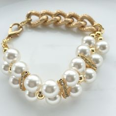 Cocolicious: Pearl Gold Bracelet, Pearl Wedding Jewelry, Pearl Bridesmaid Jewelry,