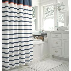 New Threshold Chatham Stripe Shower Curtain #Threshold #Contemporary