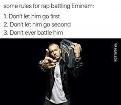 lolz online - Some Rules For Rap Battling Eminem… Eminem Funny, Eminem Memes, Eminem Rap, Eminem Quotes, Eminem Lyrics, Dark Humour Memes, Humor, Eminem Poster, Eminem Slim Shady