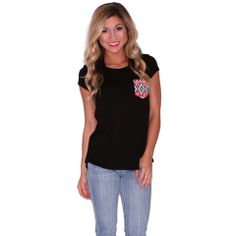 Lovestruck Tee in Black | Impressions  Add a little color to your basic tees!    www.shopimpressions.com!